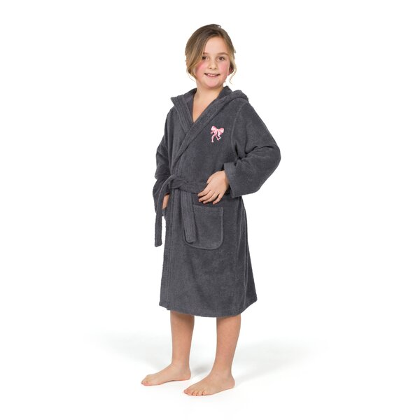 Ashby Bow Design 100% Turkish Cotton Bathrobe by Harriet Bee